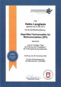 Nachweis Verwalter Wohnimmobilien Langheim Wohnen.plus